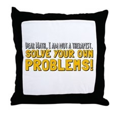 Dear Math Throw Pillow