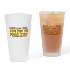 Dear Math Drinking Glass