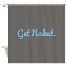 Get Naked Shower Curtain Shower Curtain
