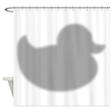 Cool Rubber Duck Silhouette Shower Curtain