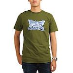 Birds Well With Others Organic Men's T-Shirt (dark