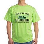 Coed Naked Birding Green T-Shirt