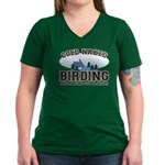 Coed Naked Birding Women's V-Neck Dark T-Shirt