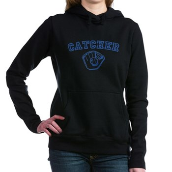 Catcher - Blue Woman's Hooded Sweatshirt