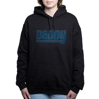 Daddy - Blue Woman's Hooded Sweatshirt