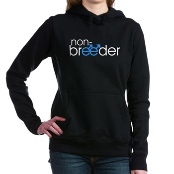 Non-Breeder - Male Woman's Hooded Sweatshirt