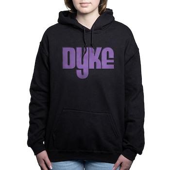 Purple Dyke Woman's Hooded Sweatshirt