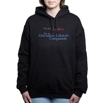 Lesbro - Alternative Lifestyle Companion Woman's Hooded Sweatshirt