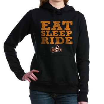 Eat Sleep Ride Woman's Hooded Sweatshirt