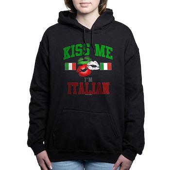 Kiss Me I'm Italian Woman's Hooded Sweatshirt