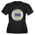 Lifelist Clu Women's Plus Size V-Neck Dark T-Shirt