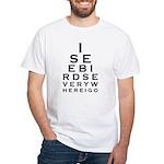 Birding Eyechart White T-Shirt