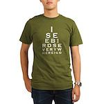 Birding Eyechart Organic Men's T-Shirt (dark)