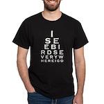 Birding Eyechart Dark T-Shirt