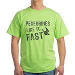 Peregrines Like It Fast Green T-Shirt