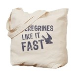 Peregrines Like It Fast Tote Bag