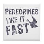 Peregrines Like It Fast Tile Coaster