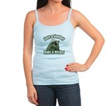 Save a Cowboy... Ride a Birder Jr. Spaghetti Tank