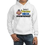 Support Warbler Neck Awareness Hooded Sweatshirt