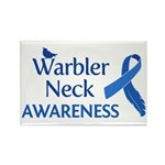 Warbler Neck Awareness Rectangle Magnet