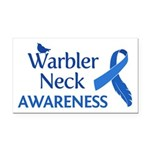 Warbler Neck Awareness Rectangle Car Magnet