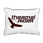 Thermal Rider Rectangular Canvas Pillow
