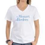 Mozart of Birders Women's V-Neck T-Shirt