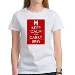 Keep Calm Carry Bins Women's T-Shirt