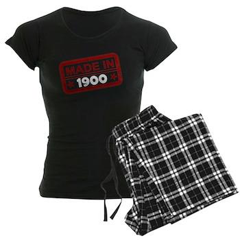 Stamped Made In 1900 Women's Dark Pajamas