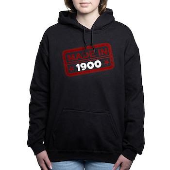 Stamped Made In 1900 Woman's Hooded Sweatshirt