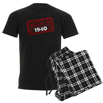 Stamped Made In 1940 Men's Dark Pajamas