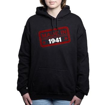 Stamped Made In 1941 Woman's Hooded Sweatshirt