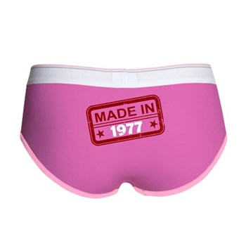 Stamped Made In 1977 Women's Boy Brief