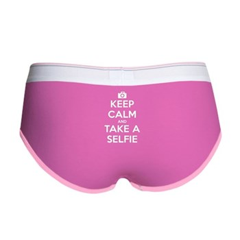 Keep Calm and Take a Selfie Women's Boy Brief