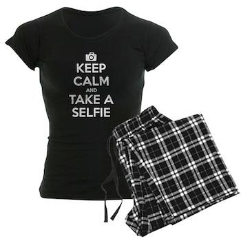 Keep Calm and Take a Selfie Women's Dark Pajamas