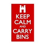 Keep Calm Carry Bins 35x21 Wall Decal