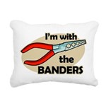 I'm with the Banders Rectangular Canvas Pillow