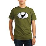 Snowy Owl Oval Organic Men's T-Shirt (dark)
