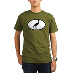 Crane Oval Organic Men's T-Shirt (dark)