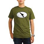 Gull Oval Organic Men's T-Shirt (dark)