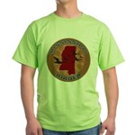 Mississippi Birder Green T-Shirt