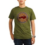 North Carolina Birder Organic Men's T-Shirt (dark)