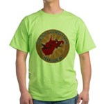 West Virginia Birder Green T-Shirt