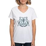 Gothic Birder Shield Women's V-Neck T-Shirt