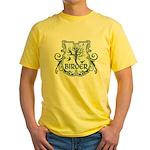 Gothic Birder Shield Yellow T-Shirt