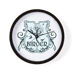 Gothic Birder Shield Wall Clock
