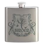 Gothic Birder Shield Flask