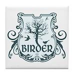 Gothic Birder Shield Tile Coaster