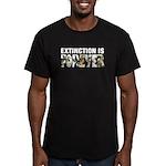 Extinction is Forever Men's Fitted T-Shirt (dark)