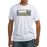 Periodic Table of Birding Fitted T-Shirt